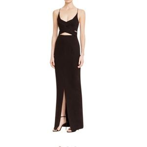Ponte Angled Cut out wrap gown 0